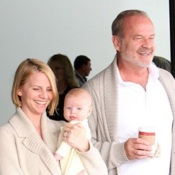 Kelsey Grammer & His Family Arrive On A Flight At LAX