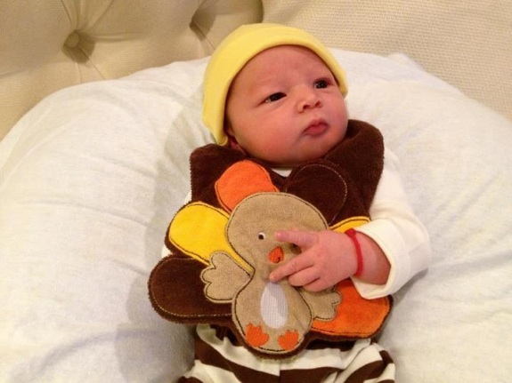 Aden John Tanner Housley Thanksgiving 2012 Growing Your Baby