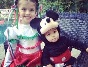 Ali Landry's children Estella and Marcello Halloween 2012
