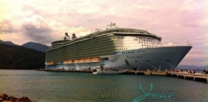 Allure of The Seas Cruise Ship docked in Labadee