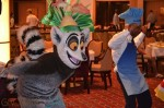Allure of the Seas - Chararcter Breakfast King Julien