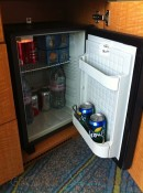 Allure of the Seas - Oceanview balcony mini fridge