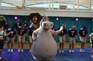 Allure of the Seas sail away Dreamworks show