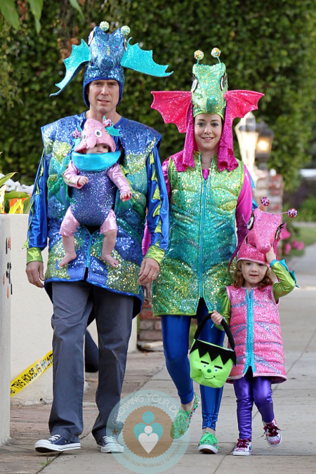 The Denisoffs Are Trick Or Treating Seahorses