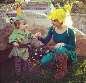 Alyssa Milano with son Milo Halloween 2012