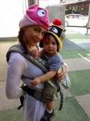 Alyssa Milano with son Milo at the Yo Gabba Gabba