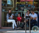 Ambrosio enjoys ice cream with son Noah and Anja Mazur