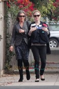 Anna Paquin out for a walk with her twins
