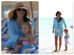 Bethenny Frankel and daughter Brynn on the beach in Miami