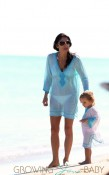 Bethenny Frankel spends a day at the beach with daughter Bryn in Miami