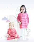 Bonnie Baby sparkle apple cotton:lurex dress