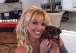 Britney Spears with her puppy Hannah