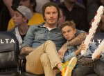 Beckham And Sons At NBA Suns vs Lakers Game