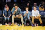 David Beckham and his boys watch LA Lakers , Los Angeles, CA