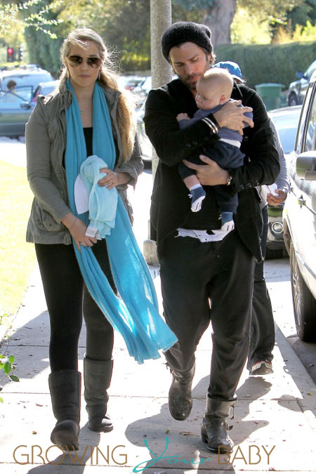 Britax Click Tight >> Elizabeth Berkley and husband Greg Lauren take their son Sky Cole Lauren to Coldwater Canyon ...