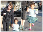 Ellen Pompeo with daughter Stella Ivery out for ice cream