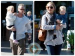 Eric Dane and Rebecca Gayheart out shopping with their daughters Billie and Georgia in LA
