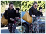 Hilary Duff with son Luca at Bristol Farms in LA
