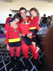 Jessica Alba, Cash Warren & Honor Warren Incredibles Halloween 2012