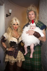 Jessica Simpson, Eric Johnson with daughter Maxwell Halloween 2012