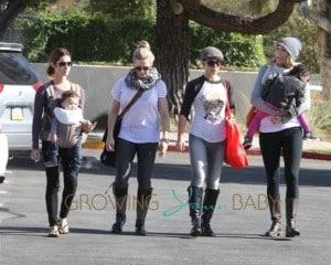 Jillian Michaels and Heidi Rhoades take Lukensia and Phoenix to Malibu Farmer's Market in Malibu