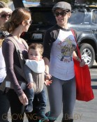 Jillian Michaels and Heidi Rhoades take Lukensia and Phoenix to Malibu Farmer's Market in Malibu