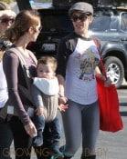 Jillian Michaels and Heidi Rhoades take Lukensia and Phoenix to Malibu Farmer's Market in Malibu.