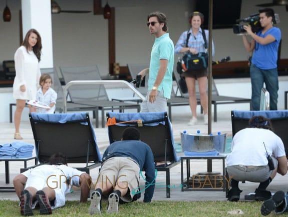 Kourtney Kardashian, Scott disick filming Kim and Kourtney take Miami