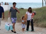 Kourtney Kardashian & Scott Disick Take Their Children Mason And Penelope To the Beach In Miami