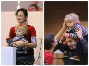 Marion Cotillard with her son Marcel Canet