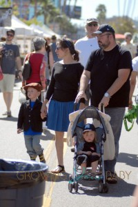 Mayim Bialik and Husband Michael Stone with sons Miles and Frederick