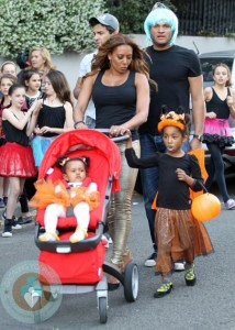 Mel B and husband Stephen Belafonte and their family enjoy their first Australian Trick or Treat
