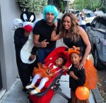 Melanie Brown, Stephen Belafonte with daughters Angel and Madison Halloween 2012 (INSTAGRAM)