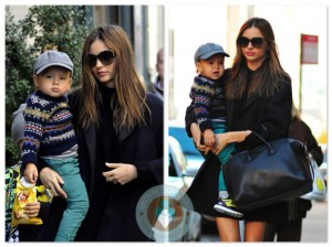 Miranda Kerr with son Flynn Bloom in NYC
