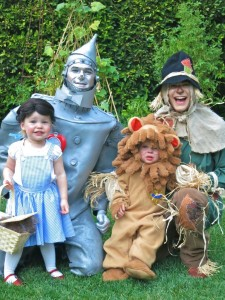 Neil Patrick Harris, David Burtka with twins Harper & Gideon Halloween 2012