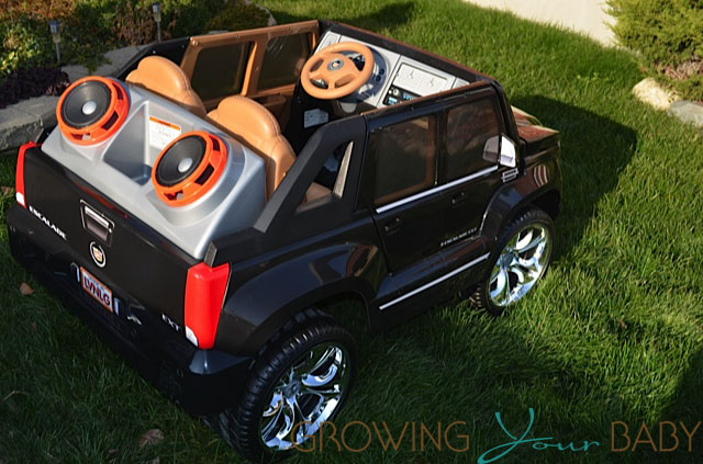power wheels cadillac escalade back view growing your baby power wheels cadillac escalade back