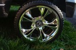 Power Wheels Cadillac Escalade - chrome wheels