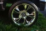 Power Wheels Cadillac Escalade - chrome wheels
