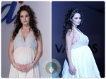 Pregnant Raffaella Fico Walks The Runway in White For Vanitas