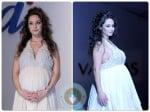Pregnant Raffaella Fico Walks The Runway in White For Vanitas