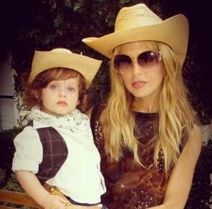 Rachel Zoe with son Skylar Halloween 2012