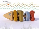 Rattle Toy organic baby toy a Fish