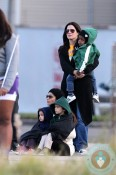 Sandra Bullock and her son Louis hang out with a very pregnant Camila Alves McConaughey and her children, Vida and Levi in New Orleans