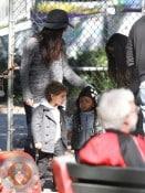 Sandra Bullock & Camila Alves Take Their Kids To City Park Storyland