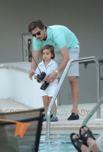 Kourtney Kardashian and Scott Disick Have Poolside Fun With Mason