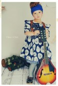 The Blue Grid Extra Full Skirt from the Fleur + Dot