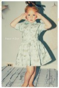 The Butterfly Shirtdress Girls Dress with Attached Sash from Fleur + Dot