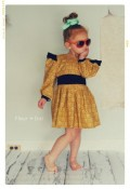 The Open Prairie Girls Dress with Ruffle and Puff SLeeves from Fleur + Dot