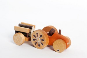 Wooden Tractor natural kids toy