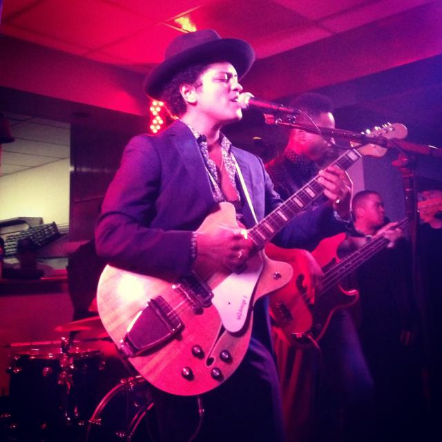Bruno Mars performs at Petra Ecclestone's birthday party
